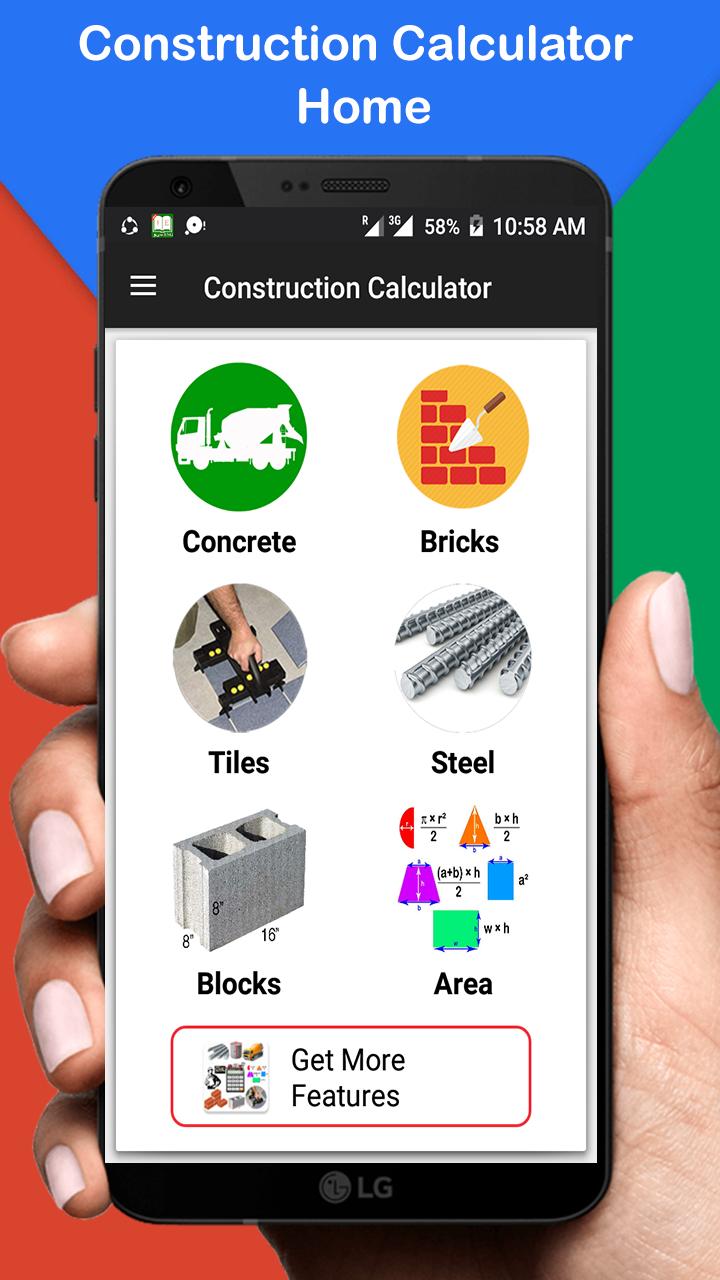 Construction Calculator (Concrete,Steel,Bricks etc) - Civil